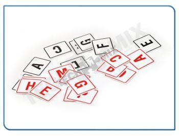NAKLEJKI SAMOPRZYLEPNE NA MEBLE KPL - litery alfabetu czarne
