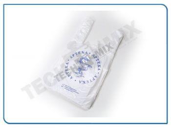 REKLAMÓWKI APTECZNE – z nadrukiem – eskulap (bio-degradowalna) 25/45 x 200szt1